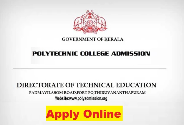 Kerala Polytechnic Admission 2021-22 (www.polyadmission.org) - Application Form, Dates, Eligibility