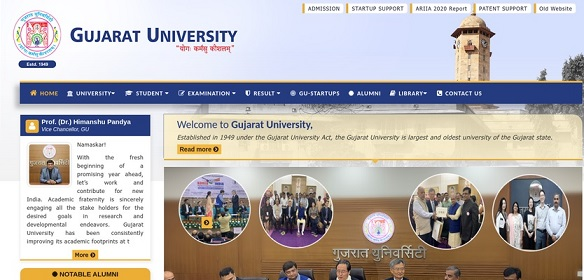 Gujarat University Admission 2021 {www.gujaratuniversity.ac.in} - GU Application Form Last Date